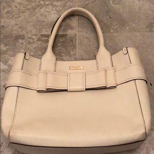 White leather Kate Spade bag
